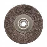 Щетка латунная на деревянном диске 4-рядная, d-100 мм