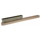 Щетка-сметка латунная на деревянной ручке